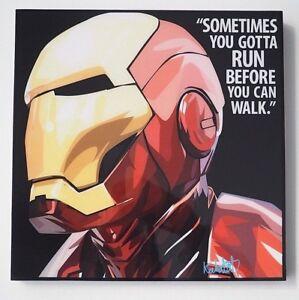 Iron Man Marvel Avengers Super Heros Dessin Anime Pop Art Toile