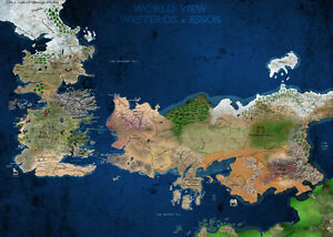 Got Karte Westeros.Details About A3 Game Of Thrones World View Westeros Essos Map Poster Gotw01 Buy 2 Get 1free