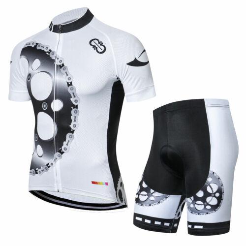 Herren Radtrikot Radhose Shorts Set Reflektierend Fahrradtrikot Fahrradhose