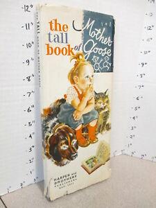 Tall-Book-of-MOTHER-GOOSE-1942-Harper-Feodor-Rojankovsky-art-DJ-1st-edition