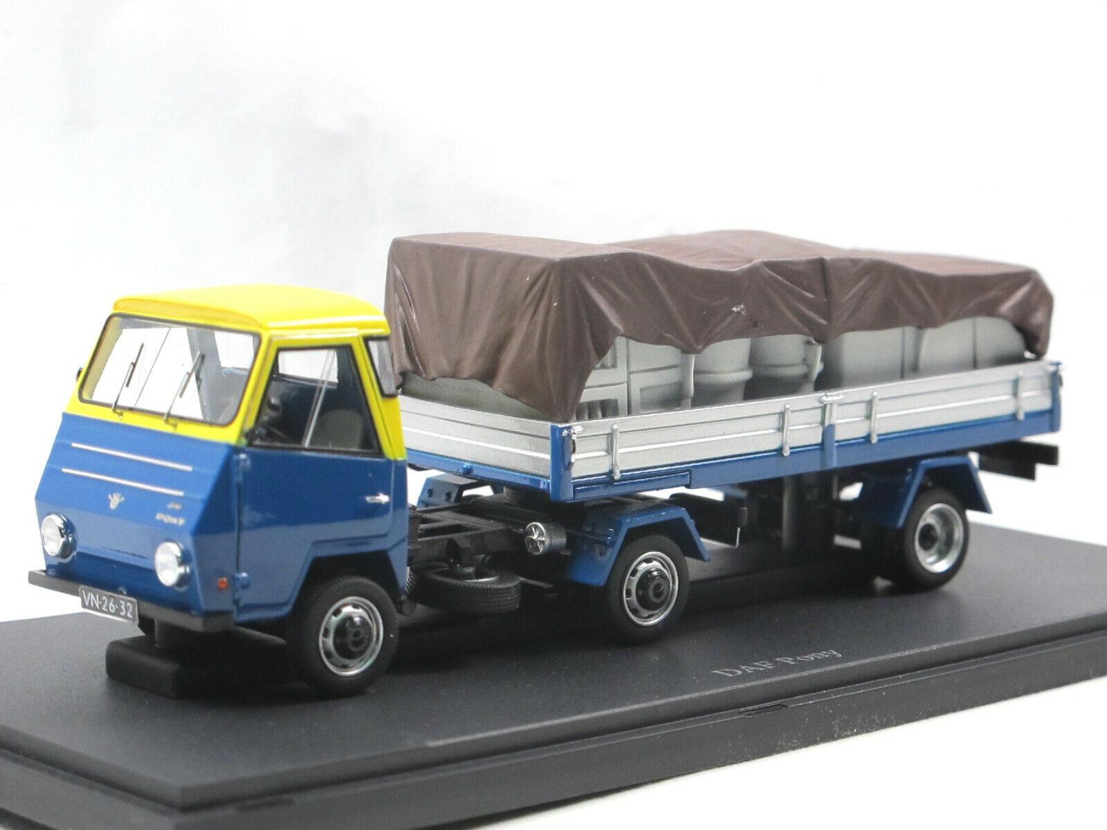 Autocult 08010 - 1968 DAF Pony tablillas-conducirse con carga blu 1 43 Limited