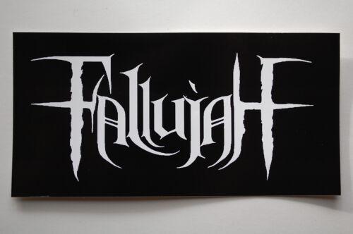 "Fallujah Sticker Decal Car Bumper Window Metal Rock Music Apprx 486 6/""X3/"""