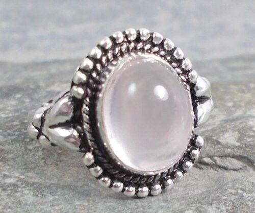 Anillo De Plata 925 cuarzo rosa rosa Talla K Q 1//2 R728 ~ silverwave uk Jewellery