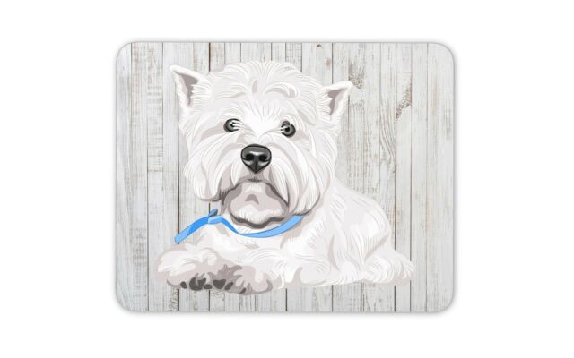 Personalised West Highland Westie Mouse Mat Pad Computer Gaming Dog Gift ST343