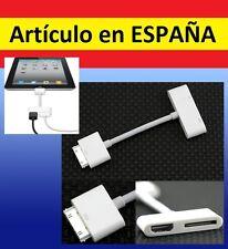 CABLE ADAPTADOR MHL de HDMI hembra a IPHONE cargador apple ipad ipod antiguo AV