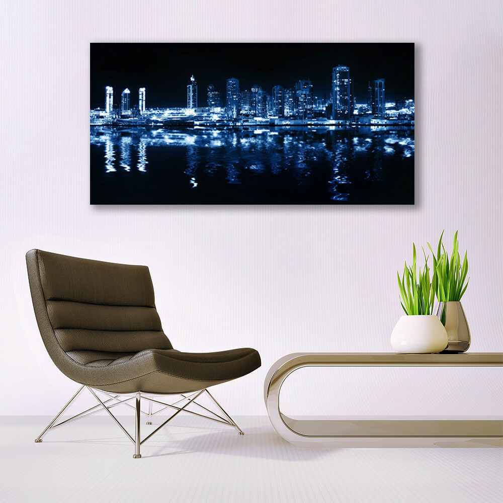 Glass print Wall art 140x70 Image Picture Picture Picture City Houses 46f578