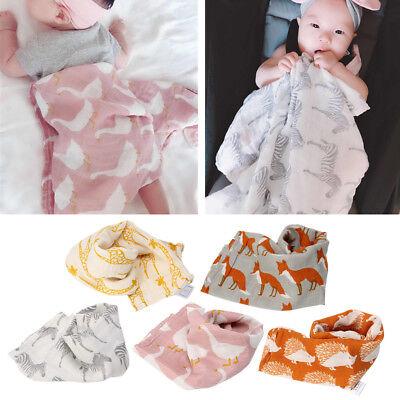 6x colors Kids Soft Small Square Baby Bibs Towel Feeding Handkerchief Bandana 8C