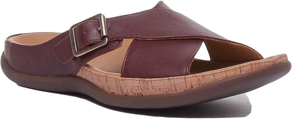 Strive damen Strap Lightweight Sandal Leather Matt In Burgundy Größe UK 3 - 8