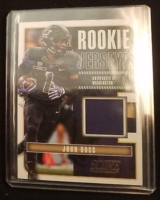 2017 Score Football Rookie Jerseys - #16 John Ross Memorabilia Insert   eBay