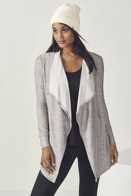 Fabletics Womens Alyse Wrap Cascade Cardigan Size 12 BNWT RRP  Grey