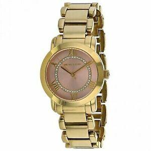 16740be9b065 Michael Kors Women s Pink Face Stainless Steel Yellow Gold Watch MK3636