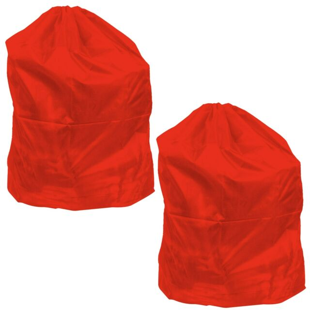 Heavy Duty Jumbo Sized Nylon Laundry Bag Red Set Of 2 Great For