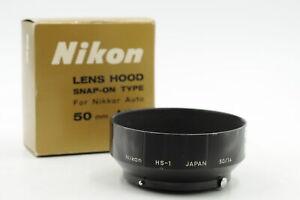 VINTAGE NIKON F SNAP-ON CAMERA LENS HOOD FOR 50 AND 58MM F1.4 NIKKOR LENS