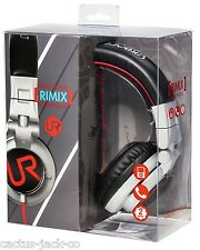 FOLDABLE URBAN REVOLT RED BLACK SILVER HEADSET, IN-LINE MIC, CALL PICK UP BUTTON