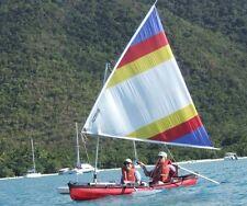 Folding Canoe Sail Kit -  Easy On, Easy Off, Easy Storage, Easy Transport