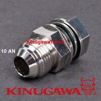 Kinugawa Turbo Oil Pan Return / Drain Plug Adapter Fitting 10an No Welding Steel