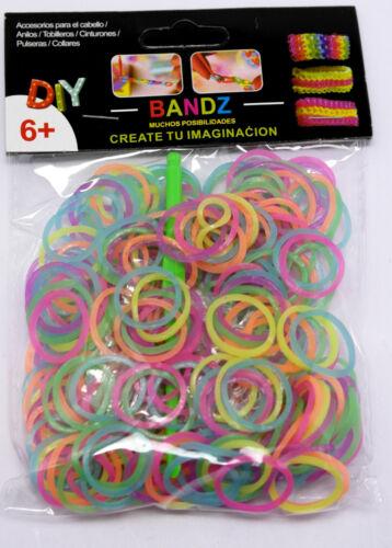 Loom Bands Glow in dark in Pack 12 s-clips hook