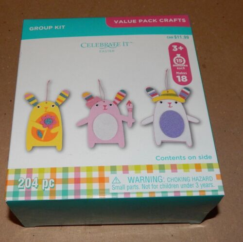 Easter Kids Crafts Foam Shapes /& Stickers Group Kit 204pc Makes18 Ornaments 107U