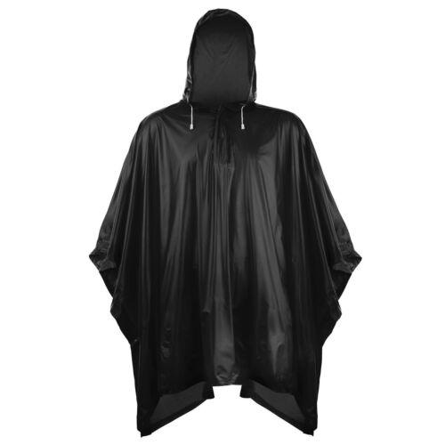 Splashmacs Unisex Drawstring Hood /& Popper Neck Fastening Plastic Poncho Coat UK