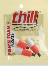 2 in Red//White Thill FishN Foam Cigar Floats Slip-Peg