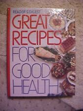 1988 Readers Digest Cookbook Great Recipes for Good Health Menu's Calorie Counts