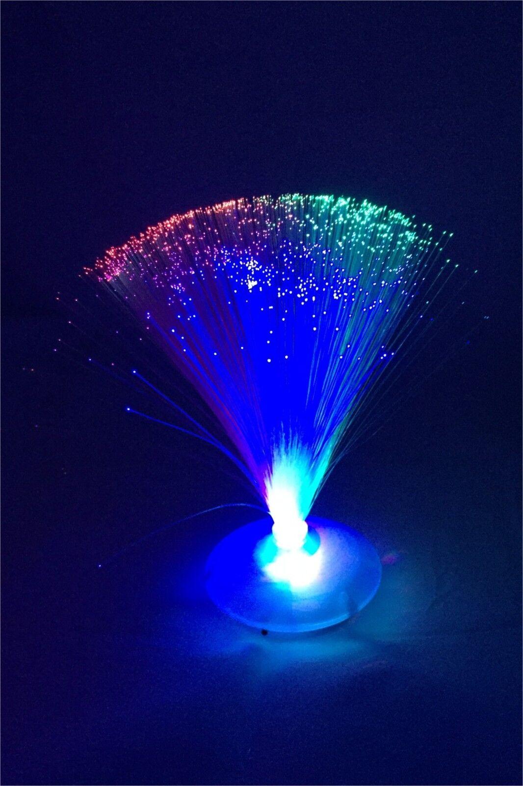 Led Fibre Optic Light Ufo Lamp Changing Fountain Night
