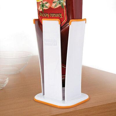 Bottoms Up Condiment/Sauce Bottle Holder ~ Stores Bottle For Easy Dispensing