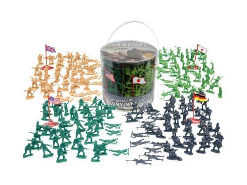 ARMY MEN action figures-soldats de la deuxième guerre mondiale-grand seau de soldats de l/'Armée-Over...