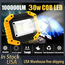 Rechargeable 100000lm Cob Led Work Light Inspection Flashlight Flood Lamp Us