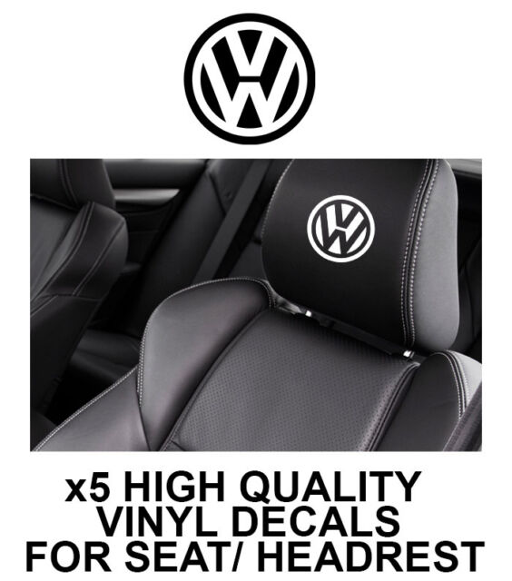VOLKSWAGEN HEADREST CAR SEAT DECALS VW Vinyl Stickers - Graphics X5