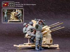 Hobby Fan 1/35 Scale German Fallschirmjagers Operating Flak 38 - 4 Resin Figures