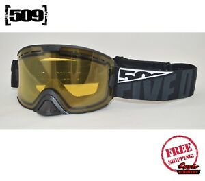 d920ad9f03c Image is loading 509-KINGPIN-SNOWMOBILE-GOGGLES-POLARIZED-WHITEOUT-W-YELLOW-