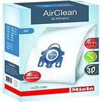 Miele Gn Vacuum Cleaner Airclean Bags 4 Bags 2 Filters Blue Collar Genuine