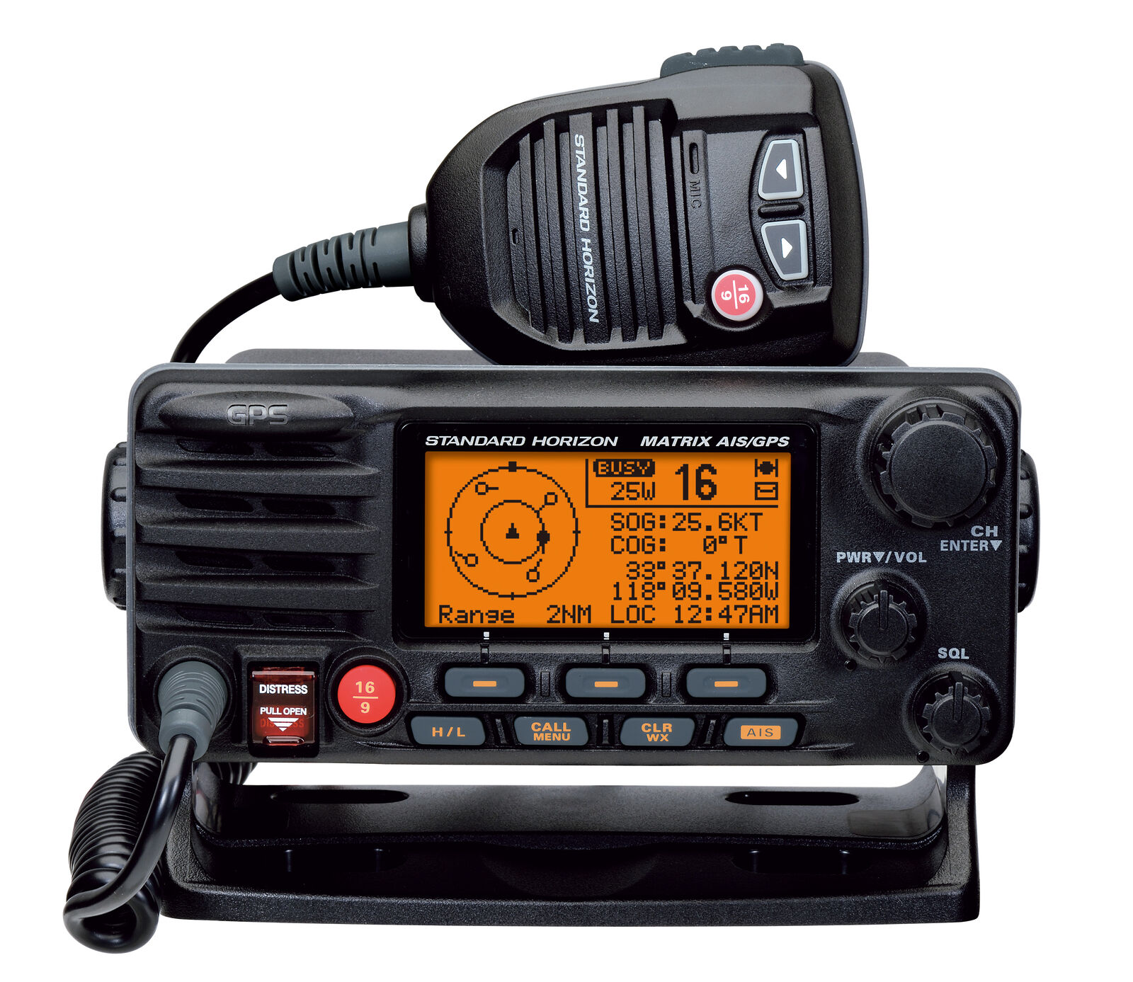 Standard Horizon Funkanlage GX2200E DSC VHF UKW Funkanlage Horizon mit GPS e1d563