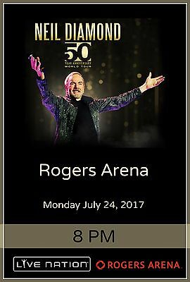 "NEIL DIAMOND ""50 ANNIVERSARY WORLD TOUR"" VANCOUVER 2017 CONCERT POSTER"