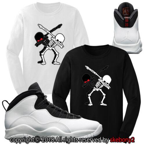 CUSTOM T SHIRT Air Jordan 10 I'm Back By MJ's matching JD 10-2-9-L LONG SLEEVE