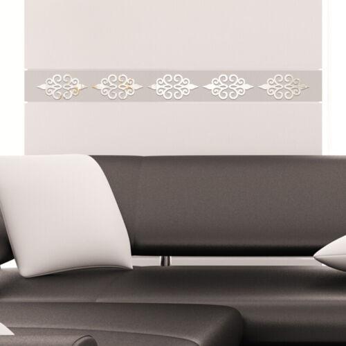 3D-Mirror Flower Removable Wall Sticker Art Acrylic Mural Decal Wall Decor AU