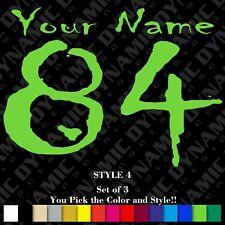 Motocross Number Plate Decals Custom Name Mx Stickers Atv Bmx Race Dirt Bike Ama