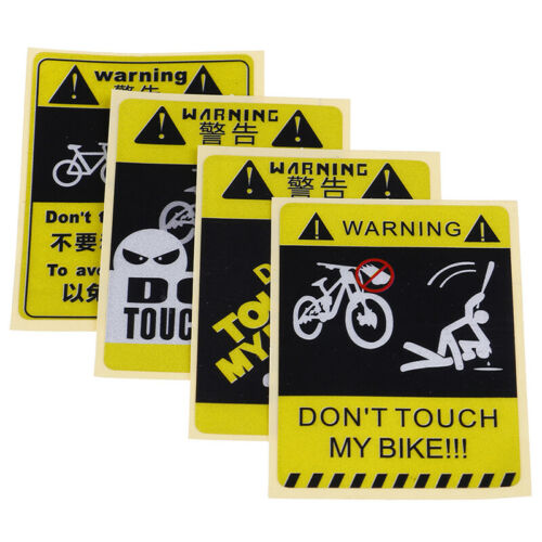 DONT TOUCH MY BIKE Bicycle Decorative Warning Sticker Waterproof Decal Yel/_sl