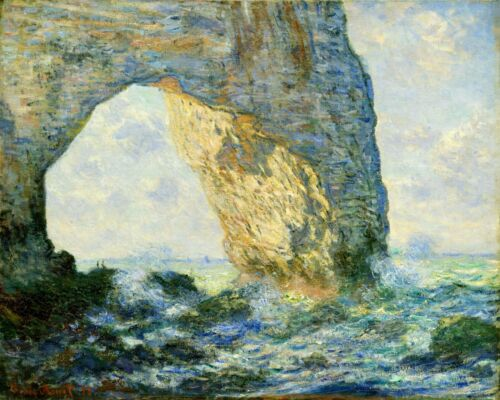 Van-Go Paint-By-Number Kit Arch to the West from Etretat by Claude Monet