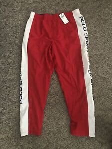Nuevo Con Etiquetas Polo Sport Ralph Lauren Rojo Blanco Azul Bandera Activo Pantalones De Hombre Grande 125 Ebay
