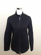 BOGNER Black Quilted Long Sleeve Zip Up Jacket Coat Size 38 Small Winter Nylon