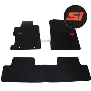 For 06 11 Honda Civic 2dr 4dr Floor Mats Carpet Front Rear W Red