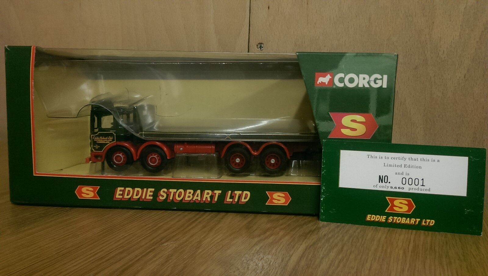 Corgi 20903 Eddie Stobart AEC 8 Wheel Platform Lorry Ltd Ed 0001 of 5660