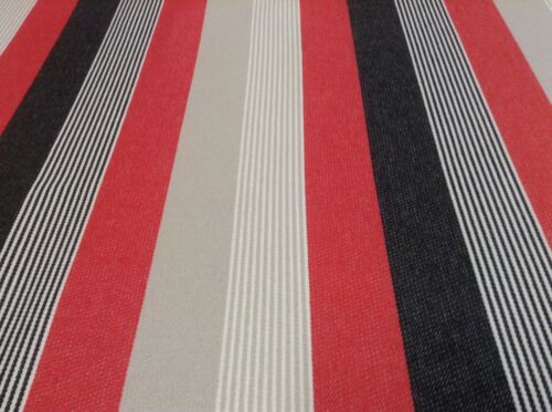 Myers Red//Black Woven  Striped Cotton Curtain//Craft Fabric