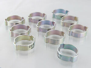 O Clips Mild Steel Zinc Plated, Full Range packed in bags of 10, Hose Clips