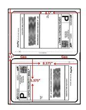 20 Round Corner Easy Peel Shipping Labels Self Adhesive 2 Per Sheet Usps Ups