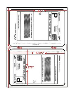 20 Round Corner Easy Peel Shipping Labels -Self Adhesive-2 Per Sheet-USPS UPS