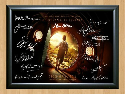 The Hobbit Full Cast x9 Lord Of Ring Signed Autographed A4 Poster Print Photo