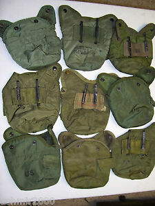 Lot of 10 US Army Military 1 QUART CANTEEN COVER 1QT POUCH OD w ALICE CLIPS VGC